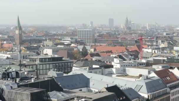 Cityscape of Munich, historical part next to Marienplatz and Viktualienmarkt. View from top of the town hall