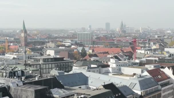 Cityscape of Munich, historical part next to Marienplatz and Viktualienmarkt.