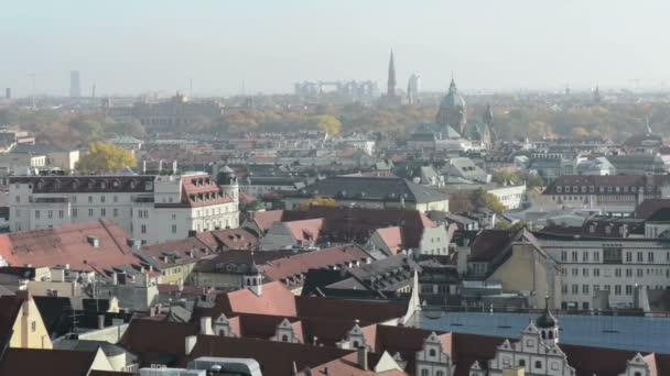 Cityscape of Munich, historical part next to Marienplatz and Viktualienmarkt