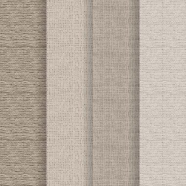 Set of 4 seamless textures - rough fabric. A vector. stock vector