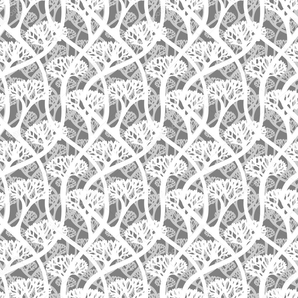 Textura transparente - matorrales de árboles — Vector de stock ...