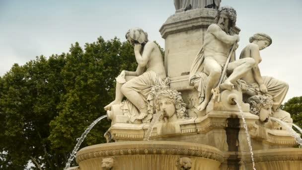 Fountain Pradier in Nimes, France