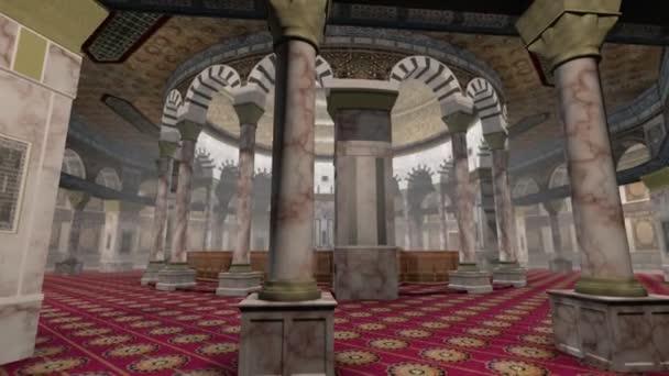 Animation der Kuppel des Felseninneren in jerusalem
