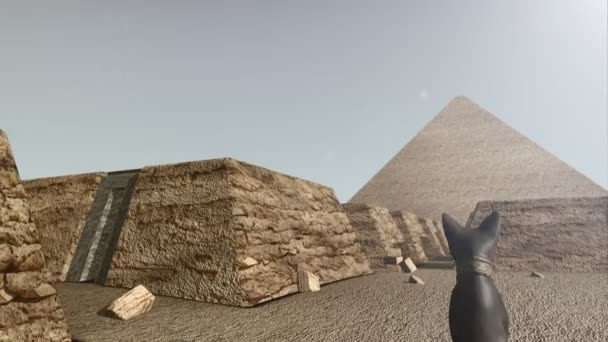 3D animation of the Giza platform Egypt