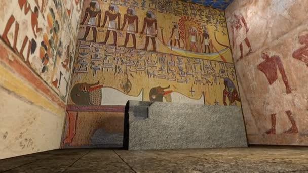 3d animace hrobky ve starověkém Egyptě