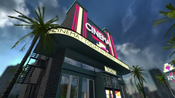 Animation eines Kinos