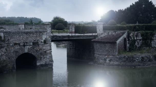Old bridge at Chateau de Beaumesnil