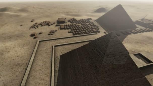 Giza platform Egypt. An animation from above
