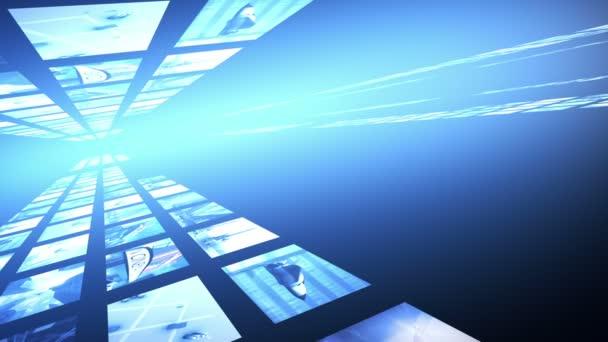 Animované klipy zdí, jako hvězda světlice