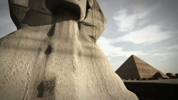 Animation of the Sphinx at the Giza platform, Egypt
