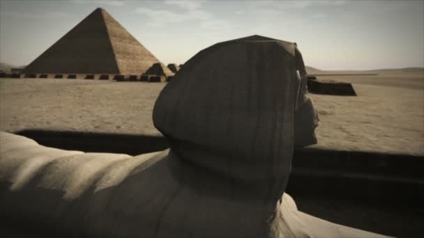 Animated Sphinx at the Giza platform, Egypt