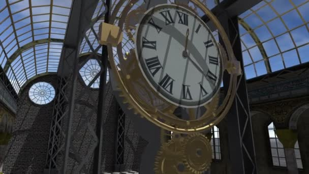 Time machine animated in Steam Punk style