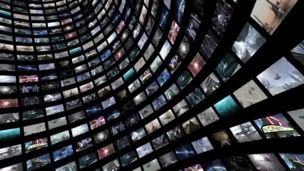 Animované video zeď, otáčení s zelená obrazovka