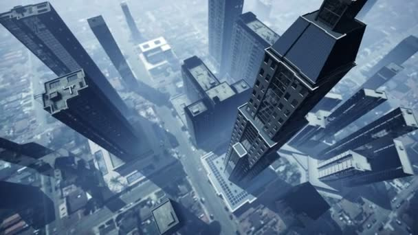 Letecký animace mrakodrapů