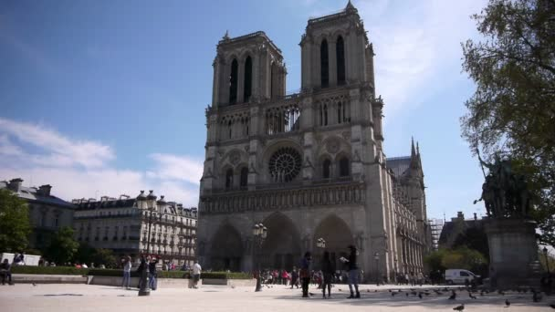 Visitors at cathedral Notre Dame