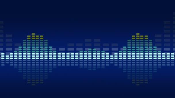 Animált vintage zene Vu méter. Problémamentes hurok képes 4k