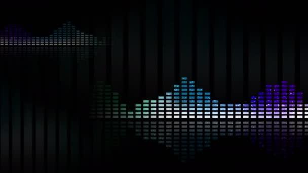 Animated waveforms and music VU meters loop-able 4K