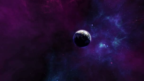 Magnificent earth zoom in the universe 4K