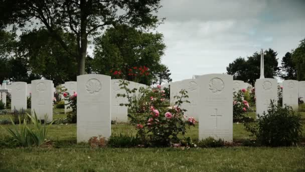 Canadian memorial crosses at a soldier cemetery