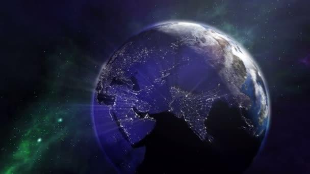 Brilantní země světla z vesmíru 4k
