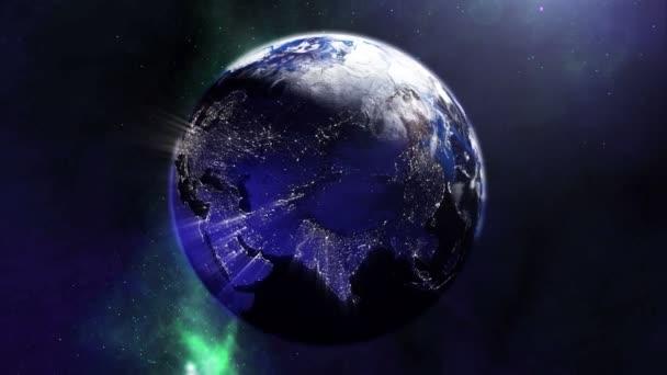 Nádherná země světla z vesmíru 4k