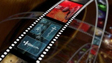 Film strip with science fiction based concepts