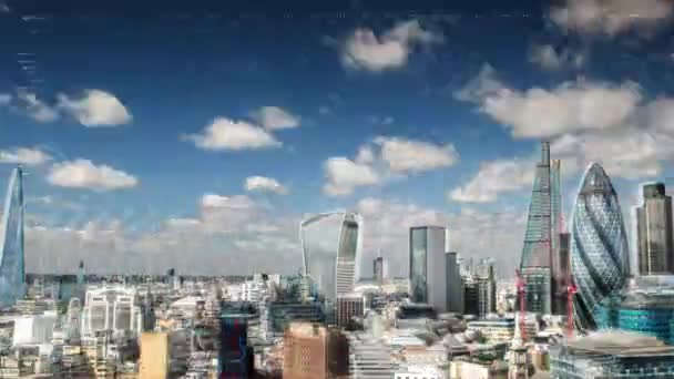 london skyline glitching ciklus