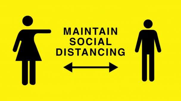Mužské a ženské postavy udržující sociální odstup