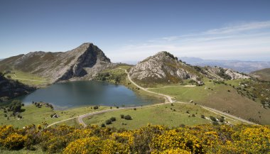 covadonga lakes in the picos de europa, spain