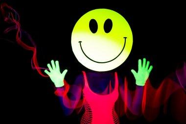sexy acid smiley rave dancer