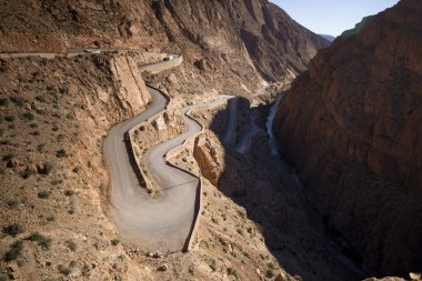 windy mountain road in the dades gorge