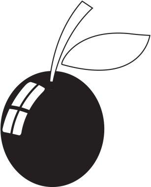 simple berry icon illustration