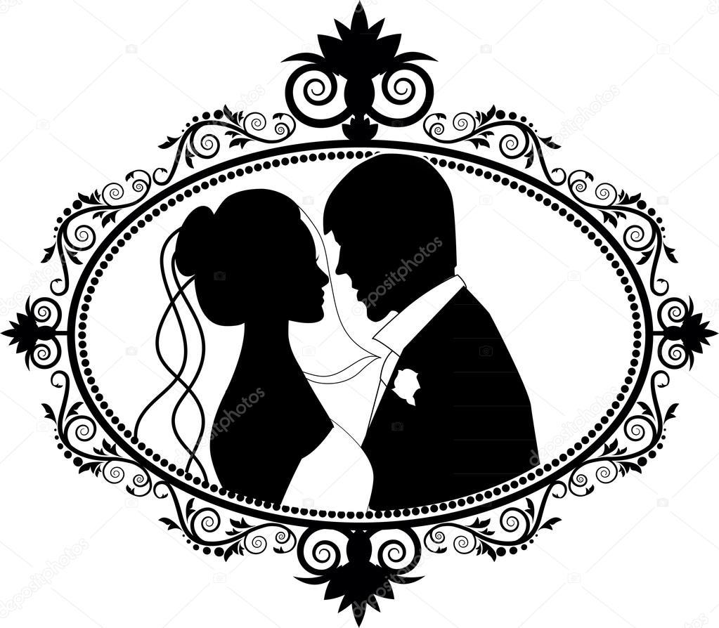 Sagome di coppia di innamorati foto stock jamesstar for Immagini vector