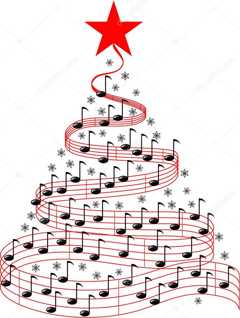 CHRISTMAS MUSIC BACKGROUND — Stock Photo © jamesstar #53666473