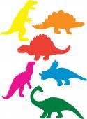 Fotografie Dinosaurier-Silhouetten