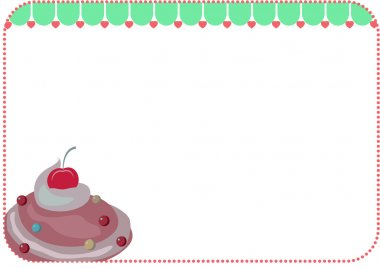 frame with ice cream in vector format