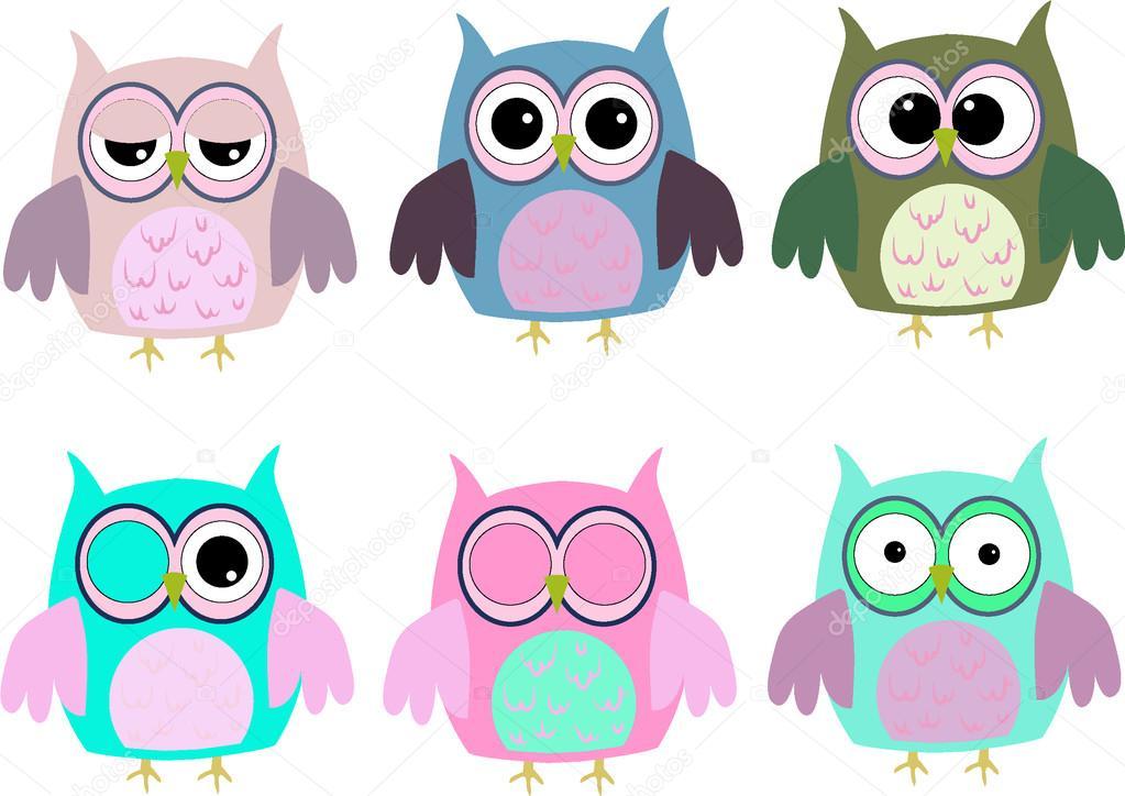 dibujos animados de buhos con varias emociones foto de Cute Owl Clip Art Halloween Owl Clip Art
