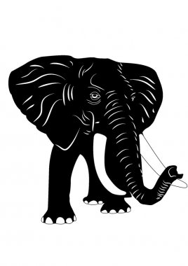 Elephant silhouette illustration