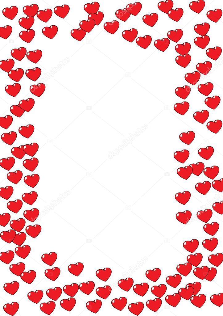 Herzrahmen auf weißem Hintergrund — Stockfoto © jamesstar #98424070