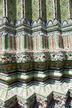 bangkok thailand abstract cross colored column   wall temple