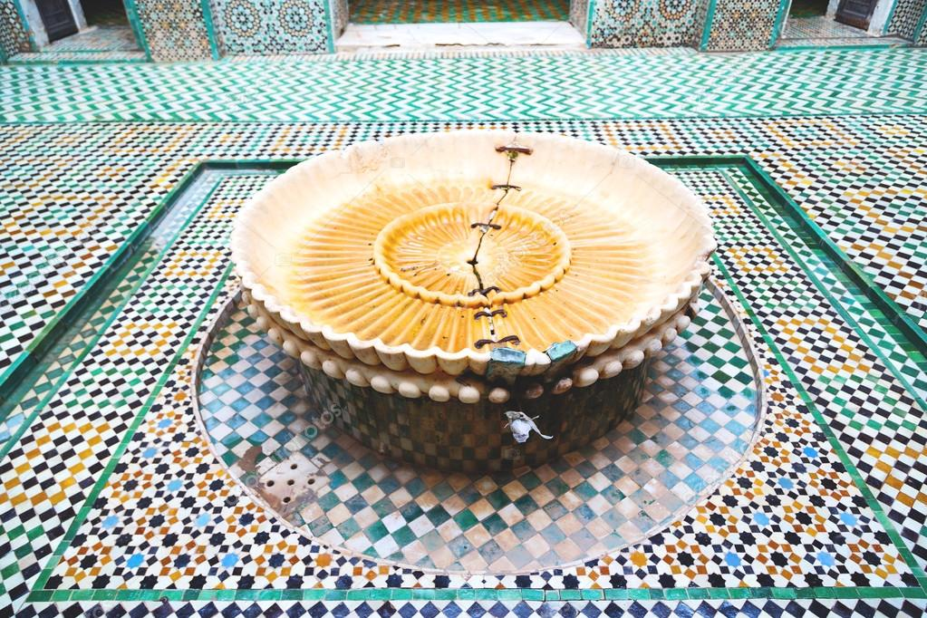 Brunnen In Marokko Afrika Bau Mousque Palast Stockfoto Lkpro