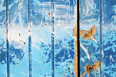 stripped  in the blue   door and rusty nail