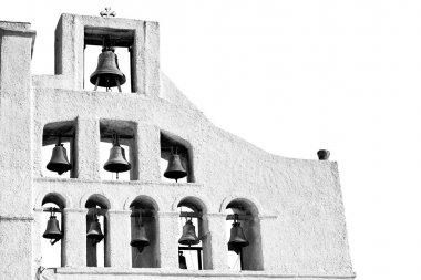 architecture    white background  cross  in santorini greece ol