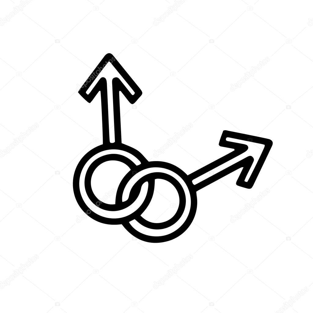 Gay symbol icon