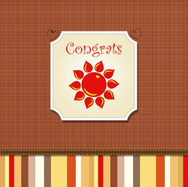 Congrats card with stripes