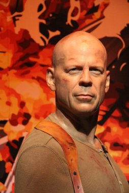 Bruce Willis wax statue