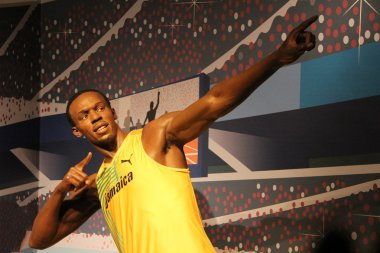 Usain Bolt wax statue