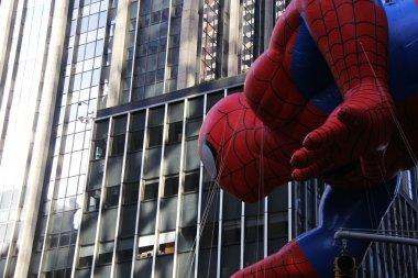 Spiderman balloon at Macys Thanksgiving Day parade