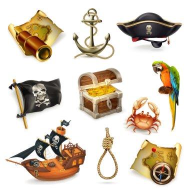 Sea pirates icons