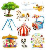 Fotografie Ikonen für Kinderspielplätze